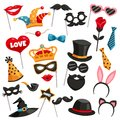 Carnival Photo Booth Party Icon Set