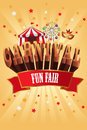Carnival poster a vector illustration of design Royalty Free Stock Photo