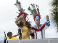 Carnival Queen and King Royalty Free Stock Photo