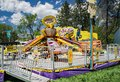 Carnival Ride at the Annual Dogwood Festival Royalty Free Stock Photo