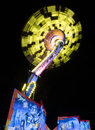 Carnival ride high in the air at night charters towers australia august spinning local fair Stock Photos