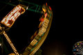 Carnival ride at night the speed of a in maine Royalty Free Stock Photo