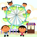 Carnival scene ferris wheel Royalty Free Stock Photos