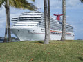 Carnival splendor cruise ship in the port of miami is the sole of the class of Stock Images
