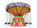 Carnival swing ride on white background d render Royalty Free Stock Photography