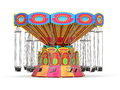 Carnival swing ride on white background d render Stock Image
