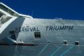 Carnival Triumph Name Sign from Front Bow