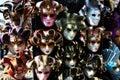 Carnival venetian masks Stock Photos