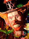 Carnival wagon with papier mâché caricatures of Royalty Free Stock Photography