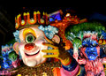 Carnival wagon with papier mâché caricatures of Royalty Free Stock Photos