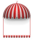 Carnivals frame detailed illustration of a with a round circus awning on top Royalty Free Stock Image