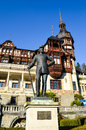 Carol I statue at Peles castle Royalty Free Stock Photo