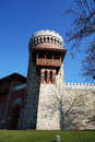 Carol park water tower in from bucharest Royalty Free Stock Image