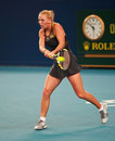 Caroline Wozniacki of Denmark in action Stock Photography