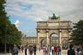 Carousel arch famus next to the louvre museum paris france Stock Photos