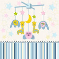 Carousel baby for crib vector toy newborn Stock Photography