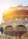 Carousel and blue sky park Royalty Free Stock Photos