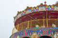 Carousel and blue sky park Royalty Free Stock Images
