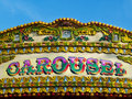 Carousel detail - colorful sign Stock Images