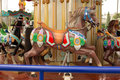 Carousel from entertainment park horses used for children amusement Royalty Free Stock Photography