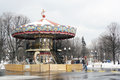 Carousel in the gorky park famous landmark moscow russia taken on moscow russia Stock Photos