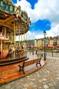 Carousel in honfleur village landmark calvados region normandy france famous europe Royalty Free Stock Photo