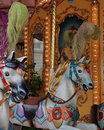 Carousel horse close up detail of a Stock Photography