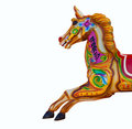 Carousel horse isolated on white Stock Images