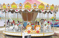Carousel horse or merry go round from funfair Stock Images