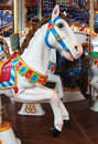 Carousel horse in a shopping mall Stock Photography