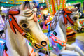 Carousel horses Royalty Free Stock Photos