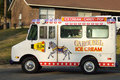 Carousel ice cream van Stock Photo