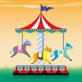 Carousel illustration merry go round Stock Image