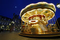 Carousel near Hotel de Ville, Paris, France Stock Photo