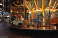 Carousel in the night Royalty Free Stock Photo