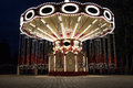 Carousel in night park Royalty Free Stock Photo