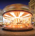 Carousel on piazza della repubblica in florence at night Royalty Free Stock Photo