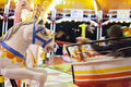 Carousel ride at amusement park Royalty Free Stock Images