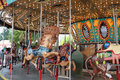 Carousel ride in fairground Royalty Free Stock Image