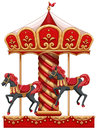 A carousel ride with horses Royalty Free Stock Photo