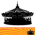 Carousel Ride Silhouette Stock Photo