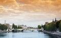 Caroussel bridge in Paris Royalty Free Stock Photo