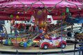 Caroussel carousel in a city of sarthe france before christmas Stock Photography