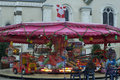 Caroussel carousel in a city of sarthe france before christmas Royalty Free Stock Image