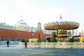 Caroussel on the red square in moscow in winter december view of a popular touristic landmark it s decorated for new year and Stock Image