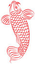 Carp, Japanese or Chinese style drawing Royalty Free Stock Photography
