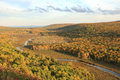 Carp River in Autumn - Porcupine Mountains in Michigan Royalty Free Stock Photo