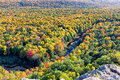 Carp River Valley in the Porcupine Mountains. Royalty Free Stock Photo