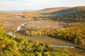 Carp River Valley at the Porcupine Mountains in the Upper Penins Royalty Free Stock Photo