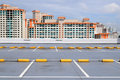 Carpark and high rise buildings Royalty Free Stock Image